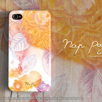 apple iphone case : abstract yellow flowers with watercolor from nappage