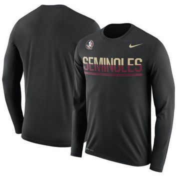 ONETOW NCAA Florida State Seminoles Men's Nike Staff Sideline Legend Performance Long Sleeve Shirt