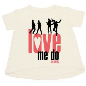 Beatles Boys' Love Me Do Childrens T-shirt White