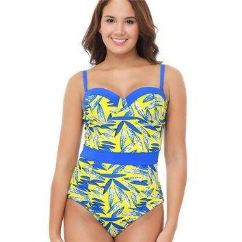 Tank Heart Retro Plus Size Swimwear Sexy Swimsuit Women one piece Swimwear Large Sizes Monokini push up Trikini one-piece Suits
