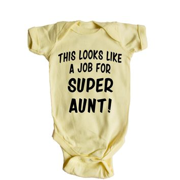 This Looks Like a Job for Super Aunt Baby Onesuit