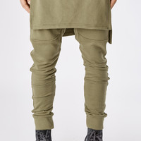 TR053 Layered Joggers - Olive Green