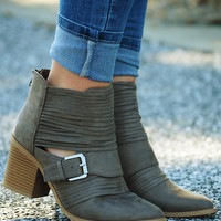 Midnight Rider Booties: Gray