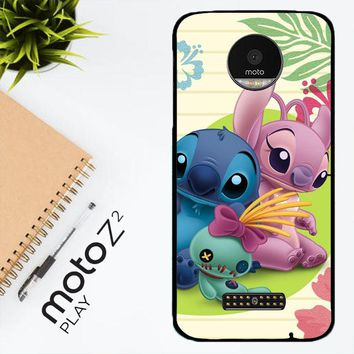 Stitch And Angel Wallpaper Y1725 Motorola Moto Z2 Play Case