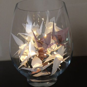 Origami Crane Fairy Lights - 20 LED's/10 Cranes