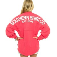Crewneck Jersey Pullover in Tropical Red by The Southern Shirt Co. - FINAL SALE