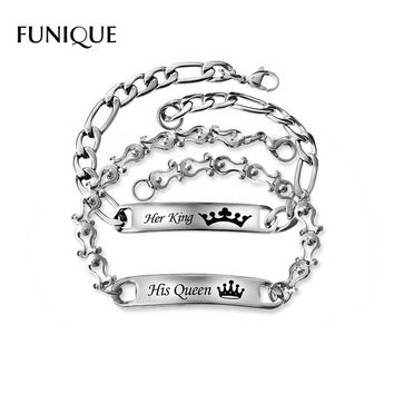 Her King & His Queen Engraved Bracelet