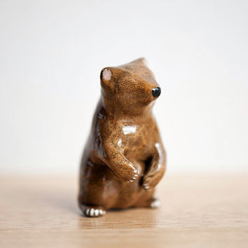 Grizzly Bear Clay Animal Totem by leanimale on Etsy
