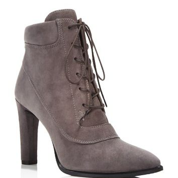 Stuart WeitzmanRuggy Suede High Heel Lace Up Booties