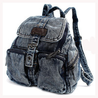 TEXU Women backpack vintage Denim backpacks for teenage girls casual school campus bags travel backpack women bag