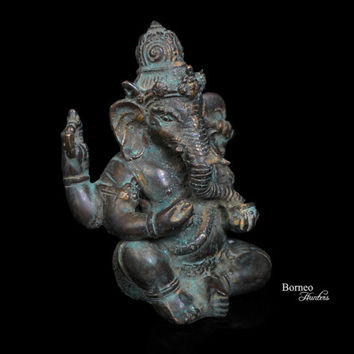 """Ganesh 4.75""""Lord Of Beginnings,Lord Of Removing Obstacles,God Of Intellect&Wisdom; Success In The World. Hindu Sanskrit Enlightenment"""