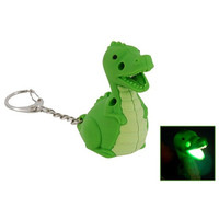 Mini Cute Dinosaur LED Keychain with Funny Sound