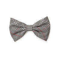 FOREVER 21 Plaid Hair Bow Black/Cream One