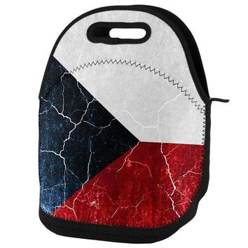 DCCKU3R Czech Republic Flag Distressed Grunge Lunch Tote Bag