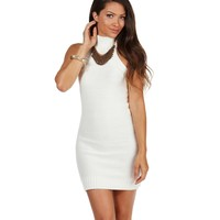 Ivory Material Girl Sweater Dress