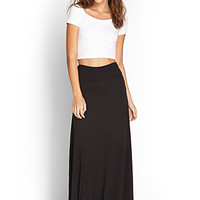 FOREVER 21 Ruched Side Maxi Skirt
