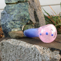 Sweet Lilac and Pink Glass Pipe