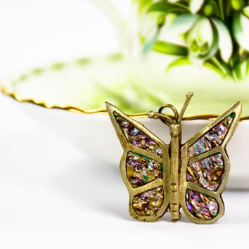 Vintage Butterfly Brooch  - Hecho en Mexico  - Vintage Silver Brooch  - Gift for her  - Rustic Earrings  - Mom Gift  - Girlfriend Gift
