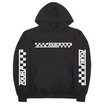 "Justin Bieber ""Bieber Purpose Stadium Tour 2017 - Checkered Tour"" Unisex Adult Black Hoodie Sweatshirt"
