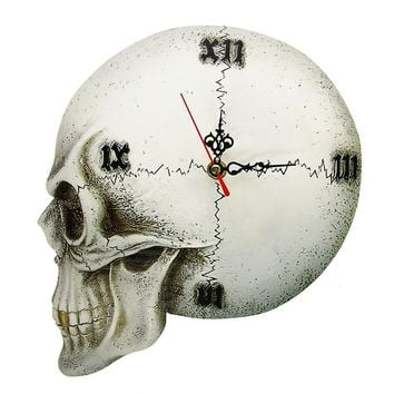 Skull Wall Clock Home Decor Clock Roman Numerals