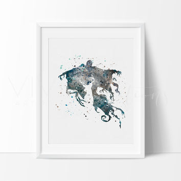 Dementor, Harry Potter Watercolor Art Print