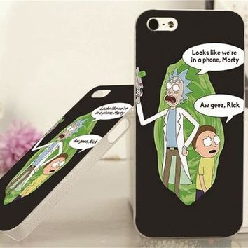 rick and morty iphone portal case