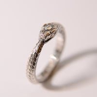 Ouroboros silver ring, any size to order US or Euro scale