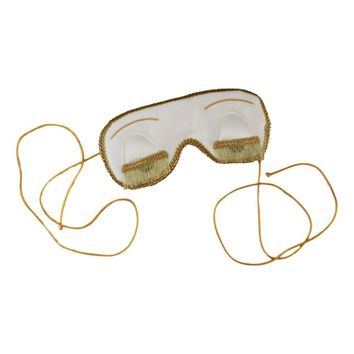 VINTAGE EDITION HOLLY GOLIGHTLY SLEEP MASK IN WHITE AND GOLD