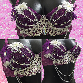 Mermaid Rave Bra Top
