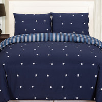 Duck River Gruden Stars Comforter Set - Dark Blue/Navy - Size full/qn