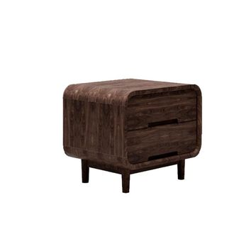 Solid Wood Black Walnut Nightstand