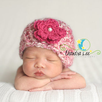Newborn Hat, Premature baby hat, Micro preemie Hat, Hat for baby, Hospital hat, Hat for photos, photography prop, Cherry blossom hat, NICU