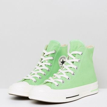 Converse Chuck Taylor All Star 70 Hi Sneakers In Green at asos.com