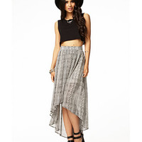 Globetrotter High-Low Skirt