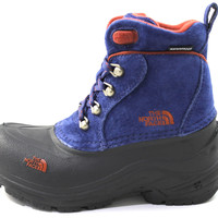 The North Face Boy's/Kid Chilkat Lace Blue/Brown Snow Boots