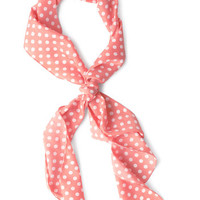 ModCloth Vintage Inspired Bow to Stern Scarf in Pink Dots