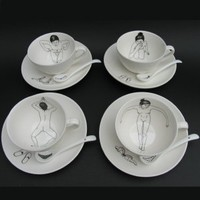 Bathing Girls Tea Set