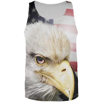 4th of July American Bald Eagle Eye Flag All Over Mens Tank Top