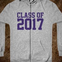 Cool 'Class of 2017' Hooded Unisex Zip Hoodie