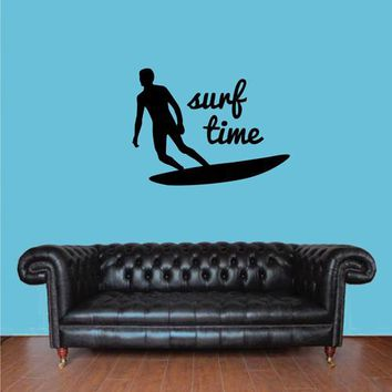 ik2593 Wall Decal Sticker time surfing board sports shop stained living room