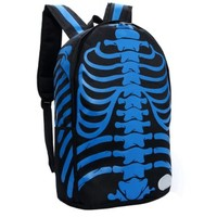 Cool Backpack, Skull Backpacks, Bags (black + blue):Amazon:Sports & Outdoors