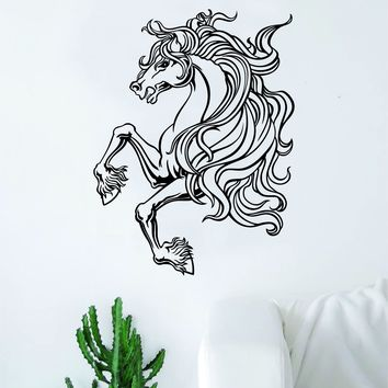 Horse V7 Design Animal Wall Decal Home Decor Room Bedroom Sticker Vinyl Art Horseback Riding Kids Teen Baby