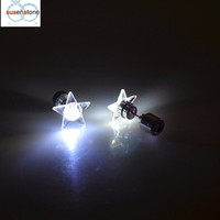 SUSENSTONE LED five-pointed star light earrings Fashion Dance Party Accessories