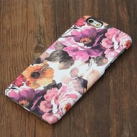 Abstract Artist Floral Design iPhone 6s Case/Plus/5S/5C/5/4S Protective Case #732
