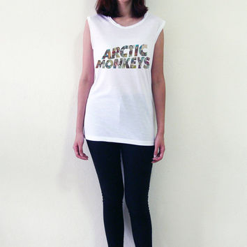 Arctic Monkeys Shirt Tank Top T-Shirt Women Muscle Tee Shirts T-Shirts Size S M L
