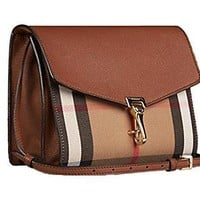 Tagre™ Burberry Burberry Women's House Check Crossbody Bag 3980826, Brown, One Size