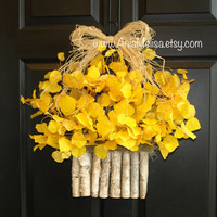 fall wreath fall wreaths autumn wreath Thanksgiving wreaths front door wreaths yellow summer wreaths ideas