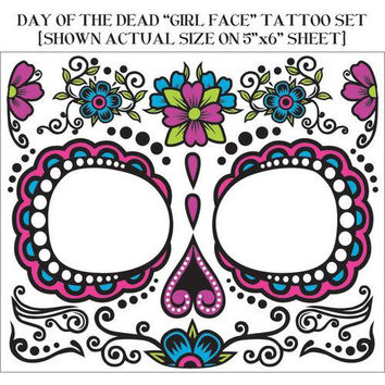Costume Accessory: Day of Dead Face Tattoo