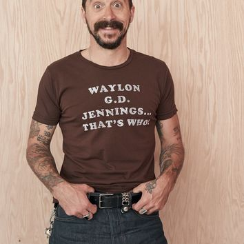 Waylon G.D. Jennings Men's Tee Shirt - Tobacco