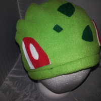 Bulbasaur Cosplay Fleece Beanie Hat